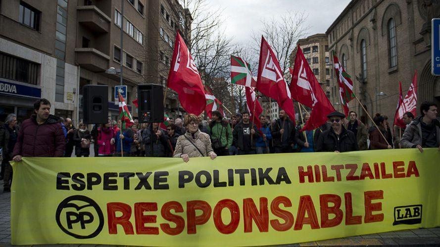 PAIS VASCO: La central sindical LAB inicia seis días de marcha a pie en Pamplona para apuntalar la huelga