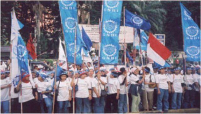 INDONESIA: MENSAJE AL TERCER CONGRESO NACIONAL DE LA FEDERACIÓN DE SINDICATOS INDEPENDIENTES (GSBI)