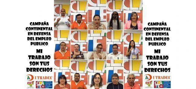Trabajadores públicos de Colombia siguen sumando mensajes a la campaña continental