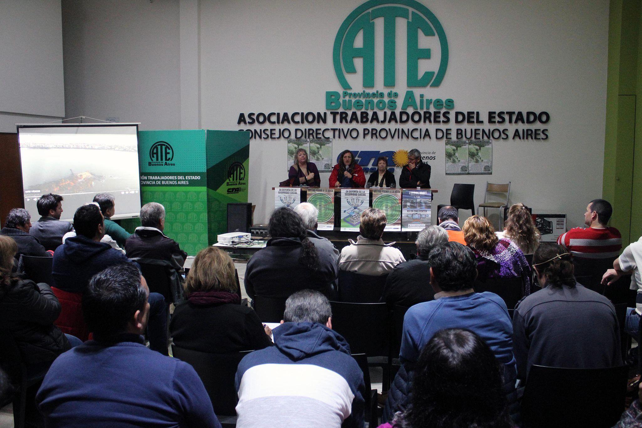 ATE protagonizó una nueva jornada en defensa de la previsión social