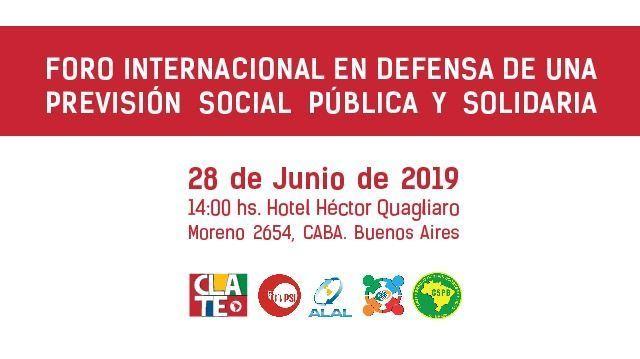 Foro Internacional en Defensa de una Previsión Social Pública y Solidaria