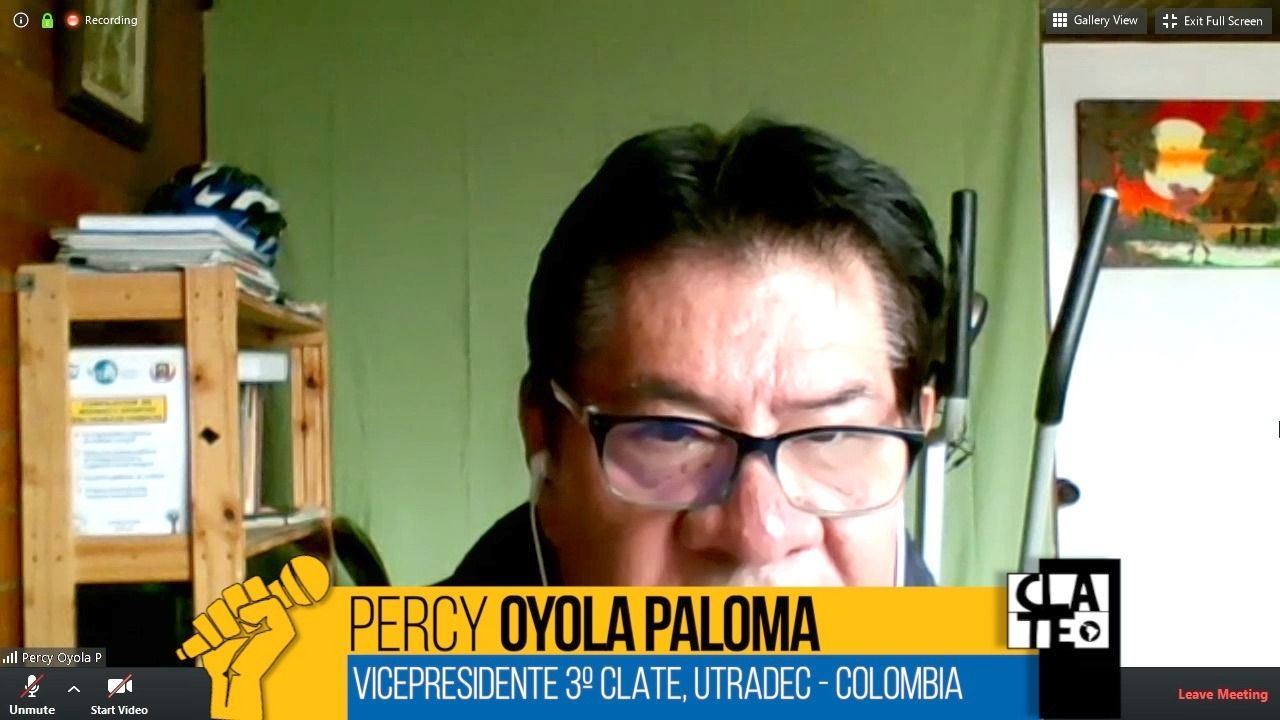 Percy Oyola Paloma: «Es necesario proteger a quienes están trabajando»