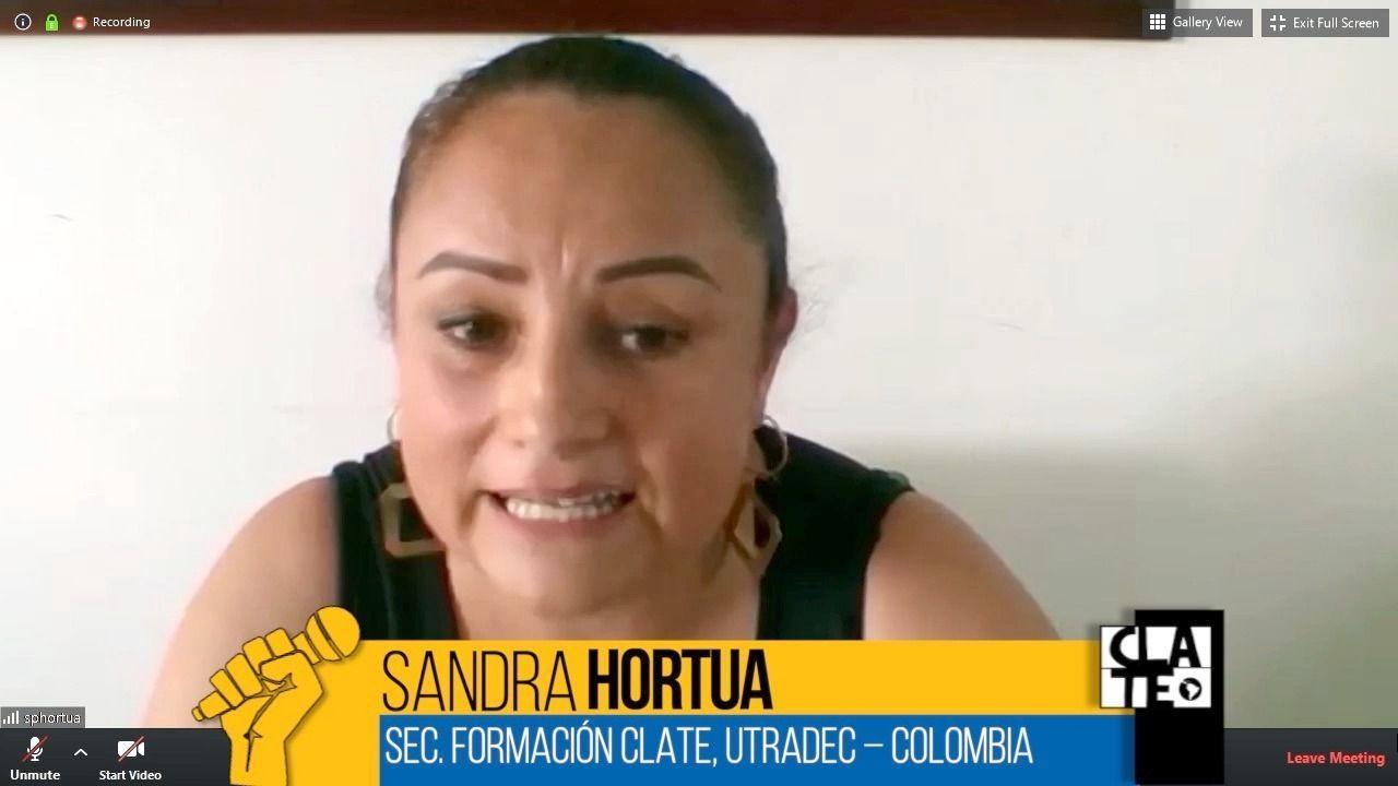 Sandra Hortúa: «Los recursos de nuestro sindicato fueron donados a fondo solidario»