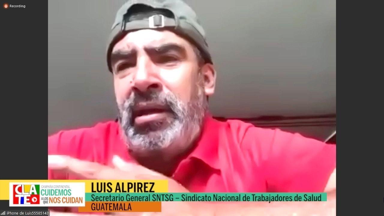 """Alpirez: """"Protestamos contra los gobiernos y estamos en la primera línea defendiendo los derechos del pueblo"""""""