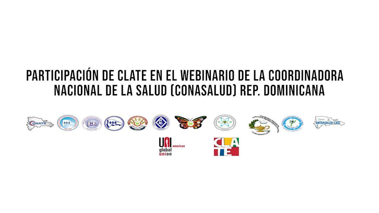 CLATE participó de un webinario organizado por la CONASALUD de Dominicana