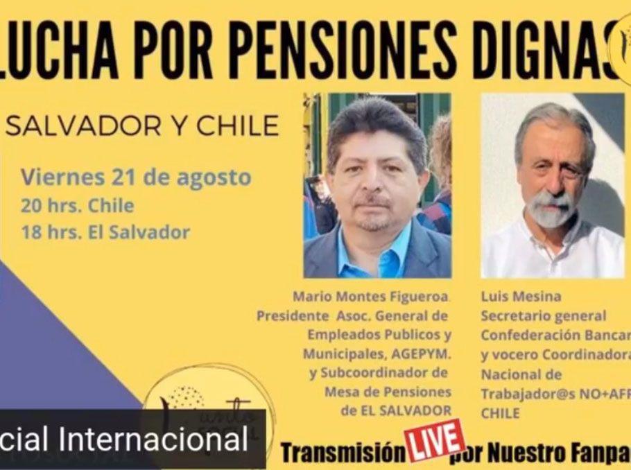 La lucha por las pensiones dignas en El Salvador y Chile