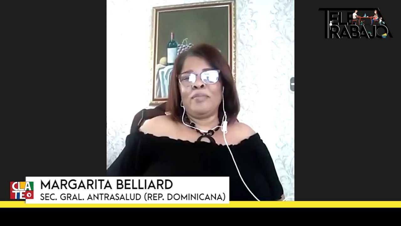 """Margarita Belliard: """"No tenemos las condiciones adecuadas para trabajar en nuestras casas"""""""