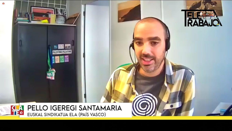 """Pello Igeregi Santamaría: """"El teletrabajo dificulta la organización de los trabajadores"""""""