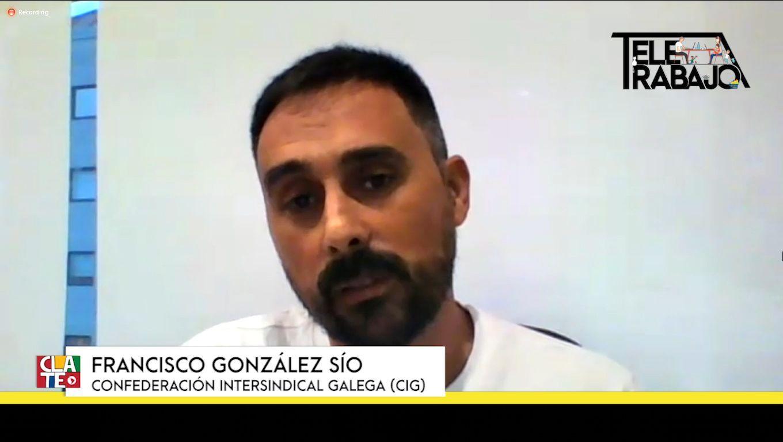 """González Sío: """"El teletrabajo aumenta la individualización y nos aleja de la clase trabajadora"""""""