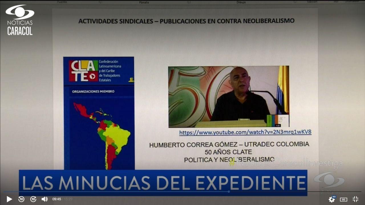 Colombia: Video inédito sobre investigación al Ejército por espionaje a periodistas, sindicalistas y políticos