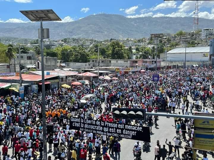 Movilización en Haití contra el dictador Jovenel Moïse