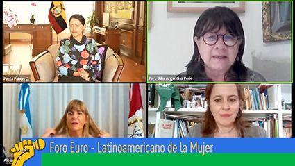 """Dirigentas políticas de Europa y Latinoamérica debatieron sobre """"Impacto del Covid-19 en las mujeres"""""""