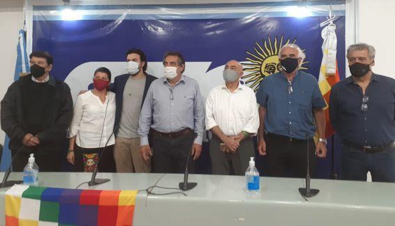 La CLATE y CTA Autónoma recibieron al dirigente colombiano Humberto Correa
