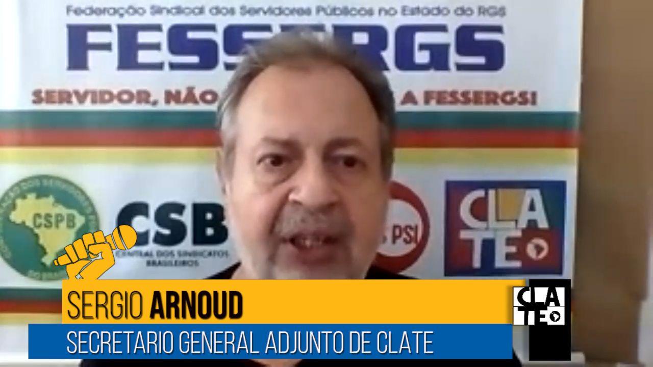 """Sergio Arnoud: """"Brasil es conducido por un gobierno irresponsable, negacionista y criminal"""""""
