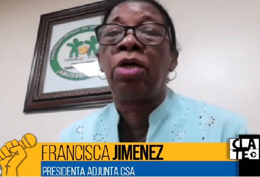 """Francisca Jimenez """"El Movimiento Sindical debe ser Protagonista"""""""
