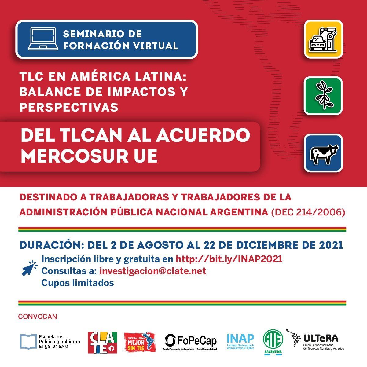 CLATE lanza un nuevo seminario con el INAP de Argentina