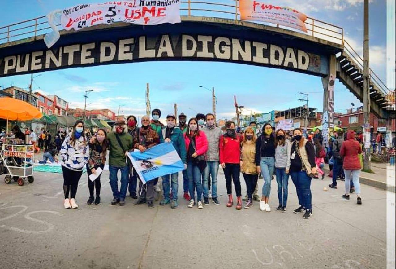 La Misión de Solidaridad de DD.HH se reunió con organismos en Colombia