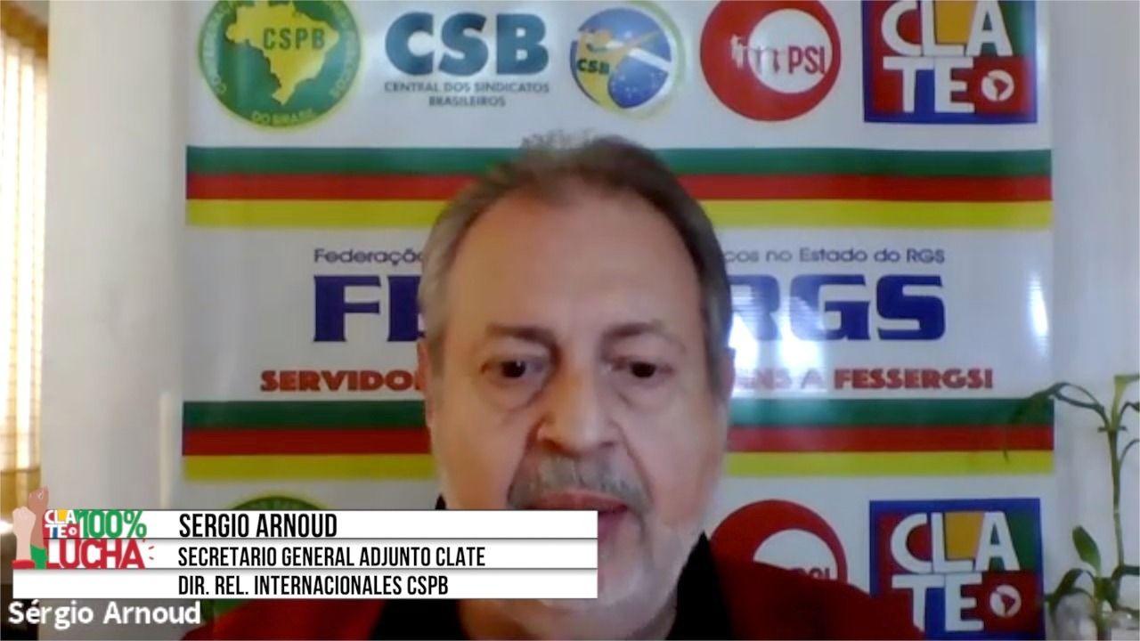 """Sergio Arnoud: """"Estamos en lucha permanente contra el gobierno de Bolsonaro"""""""